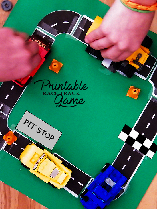 Free Printable Race Track Game Free games for kids