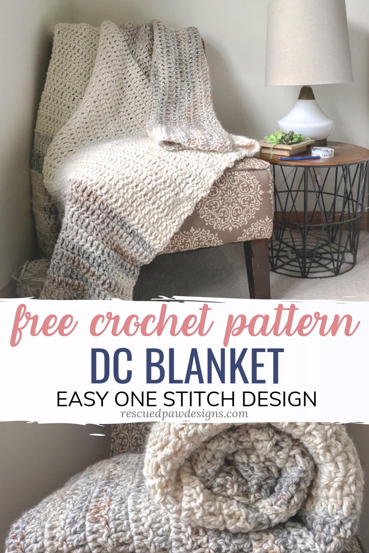 Photo of Free Double Crochet Blanket Pattern – Easy one stitch design! #crochet blanket p…