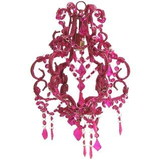 Hot Pink Beaded Chandelier Shop Hobby Lobby I Think I Want - Chandelier crystals hobby lobby