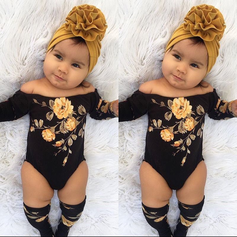 Details about US 3PCS Newborn Baby Girl Off Shoulder Flower Romper+Leg Warmers Outfits Clothes is part of Baby Clothes Dresses -