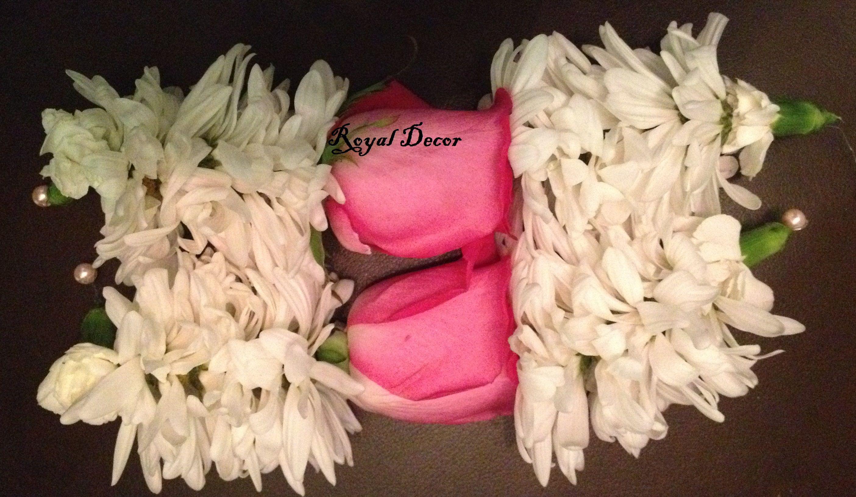 Mehndi Fresh Flowers : Bridal flower gajray jewelry garland mehndi fresh
