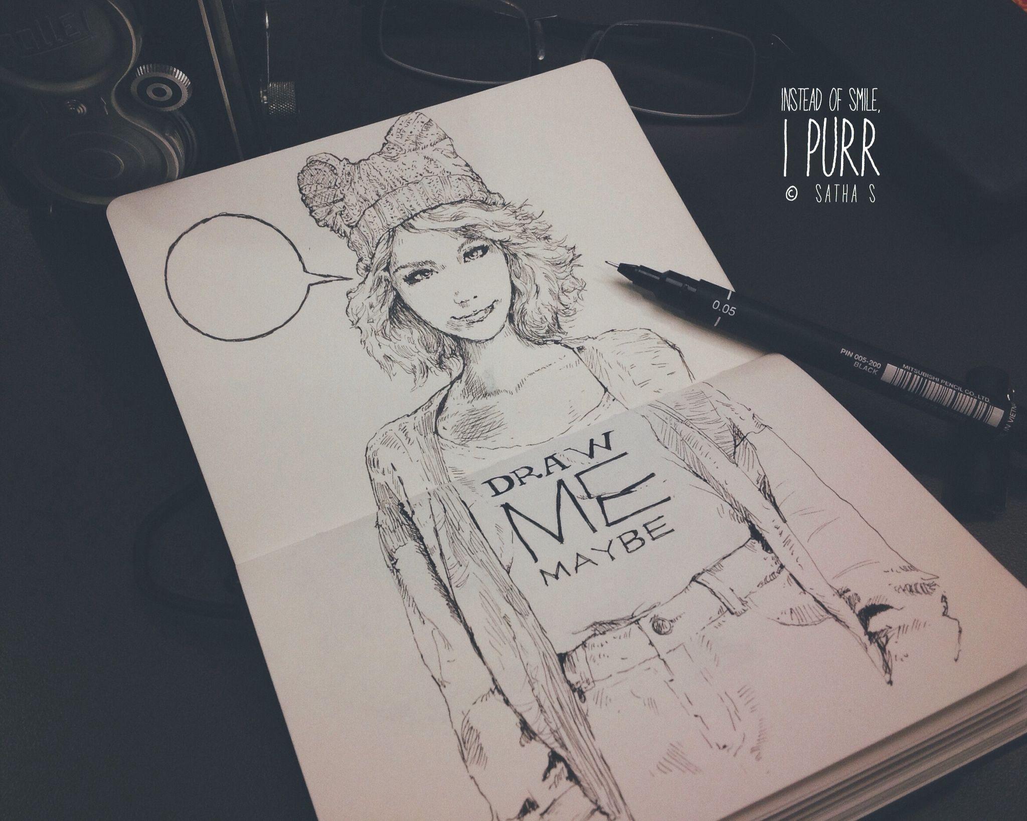 Fine liner pen on sketchbook | Drawing Inspiration | Pinterest ...