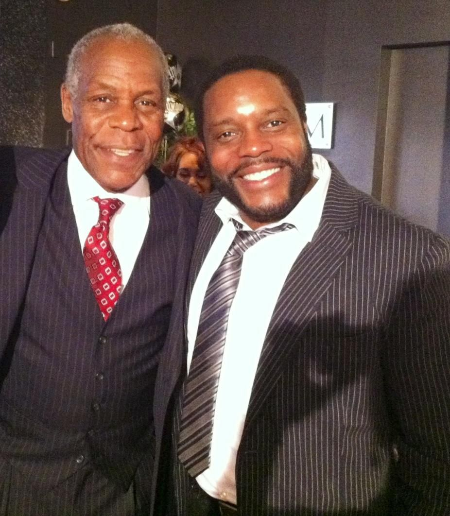 What A Legend Actor Danny Glover With Actor Chad L Coleman From