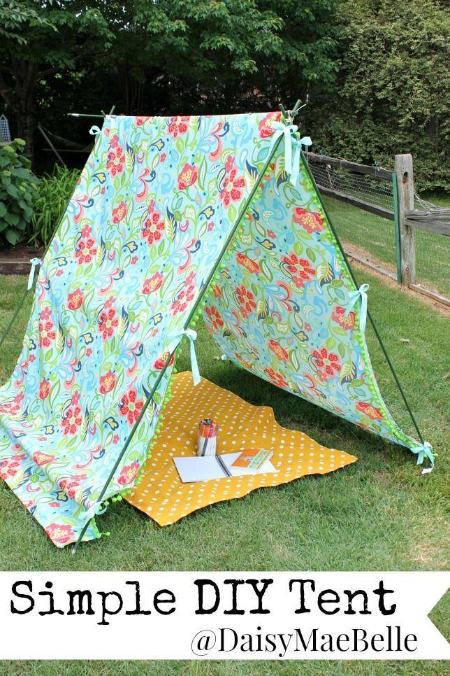 how to make a simple tent mykids pinterest zelte g rten und basteln. Black Bedroom Furniture Sets. Home Design Ideas