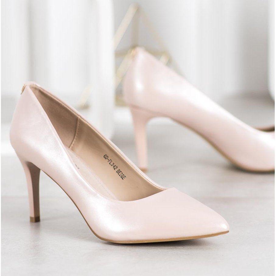 Goodin Stylowe Szpilki Z Eko Skory Brazowe Heels Wedding Shoe Pumps