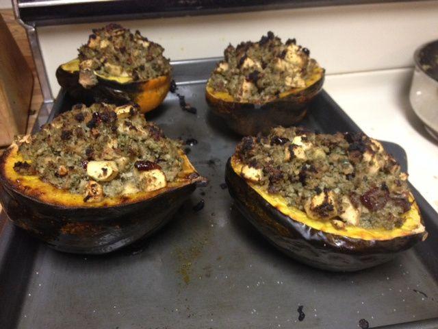 Paleo Autumn Stuffed Acorn Squash | Crossfit food Acorn ...