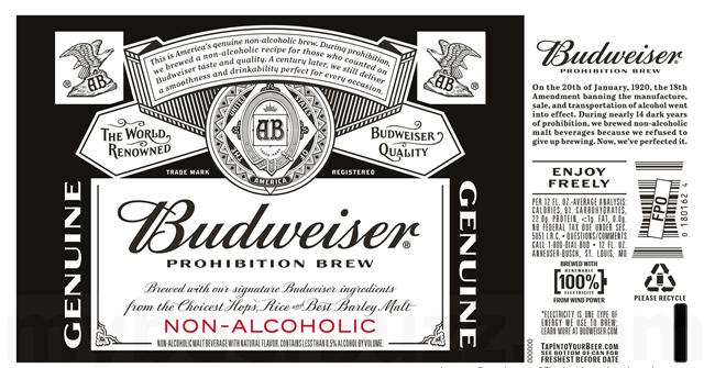 Budweiser Adding Prohibition Brew Non Alcoholic Beer Https N Kchoptalk Com 2s22zrz Non Alcoholic Beer Brewing Budweiser Prohibition Brew