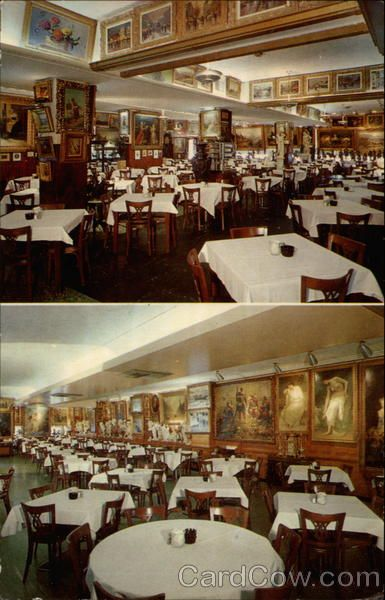 Baltimore Md Haussner S Restaurant Interior Views Showing Paintings In The Collection Of Famous
