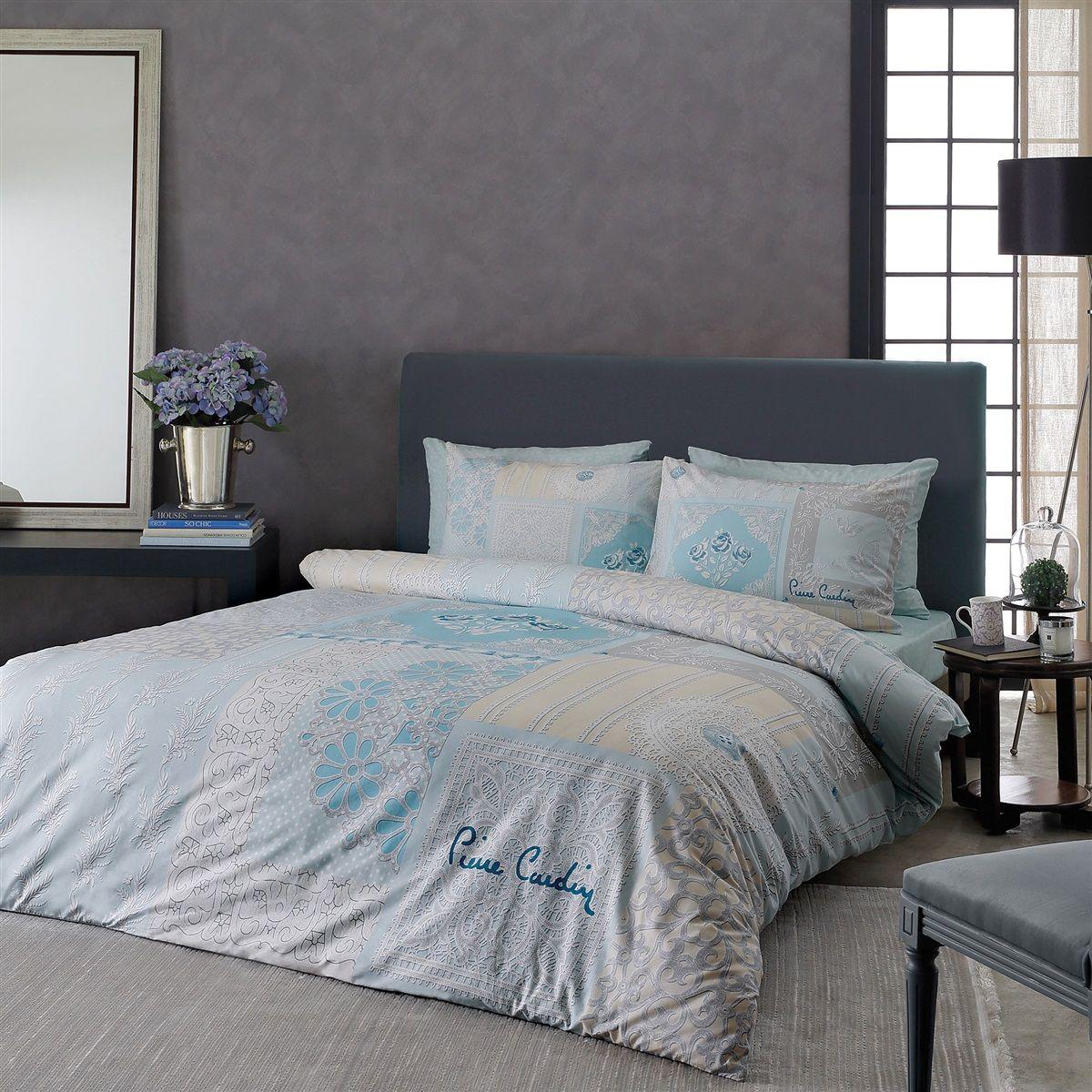 Elegant Full Comforter Set By Pierre Cardin With Aqua Damask Theme Full Comforter Sets Comforter Sets Bedroom Decor