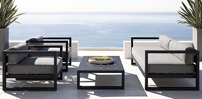 Aegean Aluminum Iron Outdoor Furniture Cg Rh Modern White