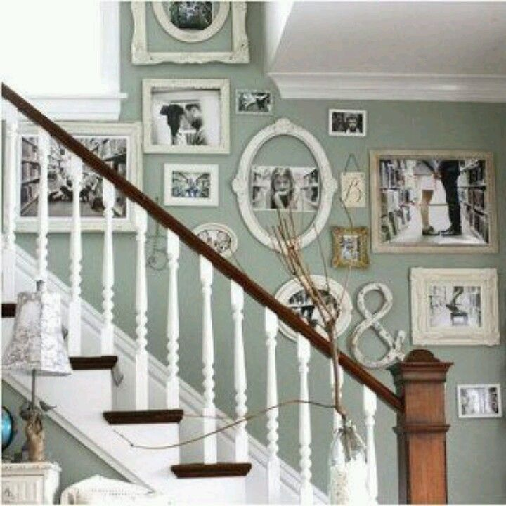 Charming Stairway Wall.