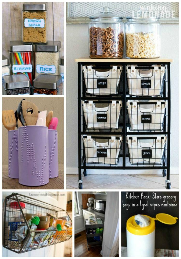 30 Genius Kitchen Storage Hacks Ideas Kitchen Storage Hacks Kitchen Cabinet Storage Storage Hacks