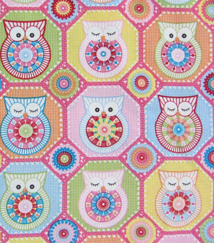 Novelty cotton print crochet owl hexagon pinknovelty cotton print novelty cotton print crochet owl hexagon pinknovelty cotton print crochet owl bankloansurffo Image collections
