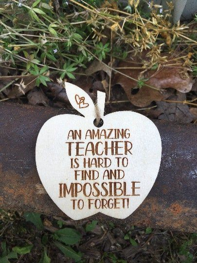 An Amazing Teacher Is Hard To Find And Impossible To Forget Ornament - Teacher Ornament - Teacher Christmas Gift - Best Teacher Gift Sign