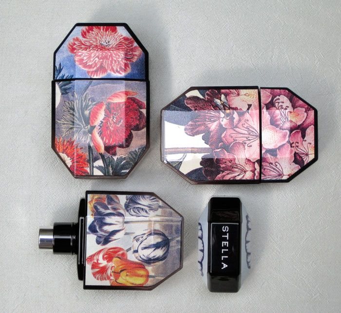 Stella McCartney's fragrance collection // designed based on her s.s '11 collection of printed garments.