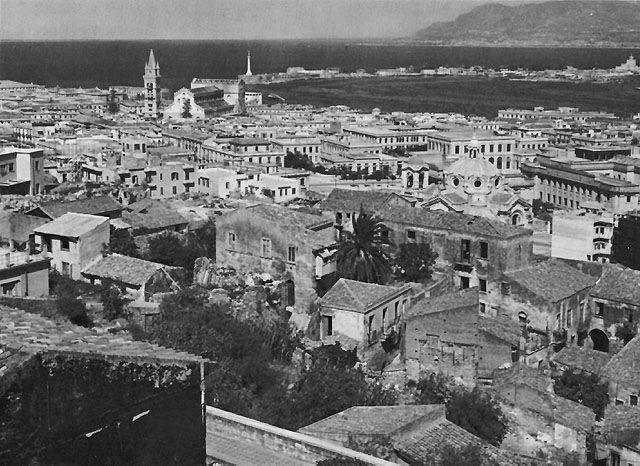 Messina, Sicily, the objective of both Patton's US Seventh ...