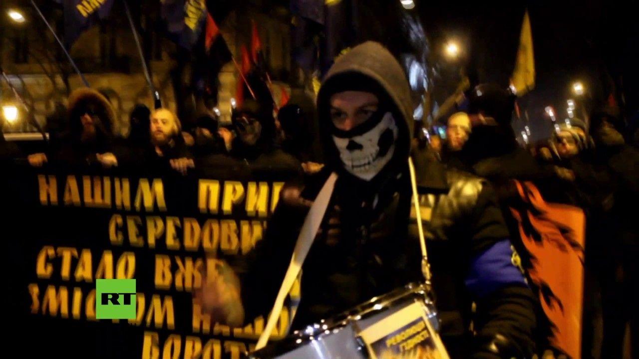 Ukraine: Tausende Nationalisten zelebrieren Geburtstag des Hitler-Kollab...