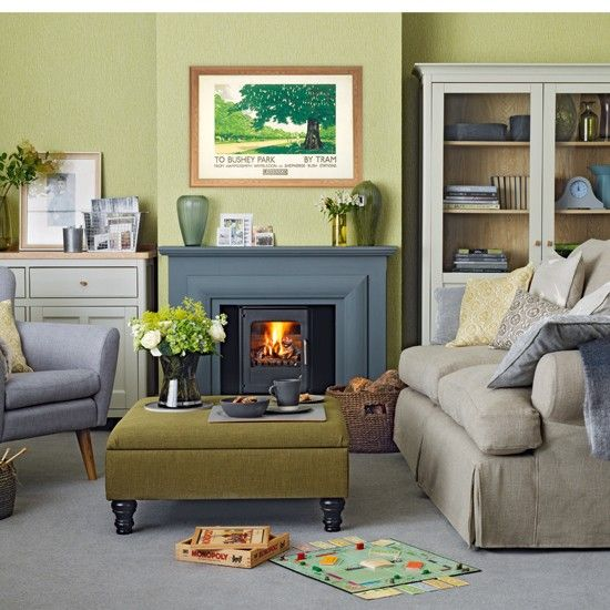 Olive Green And Grey Living Room Ideal Home Living Room Grey Living Room Color Schemes Living Room Color
