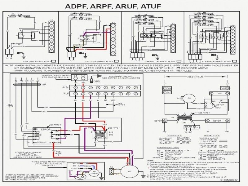 intertherm heat pump thermostat wiring diagram nordyne ac