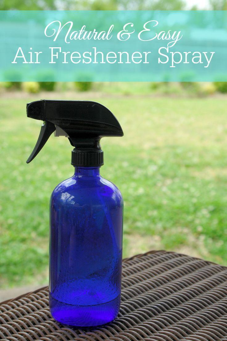 DIY natural air freshener spray, safer air freshener, essential oils