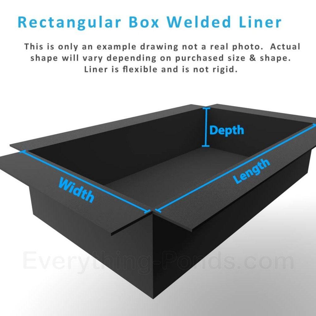 Rectangular Box Welded Pond Liner Insert Flexible Pond 400 x 300