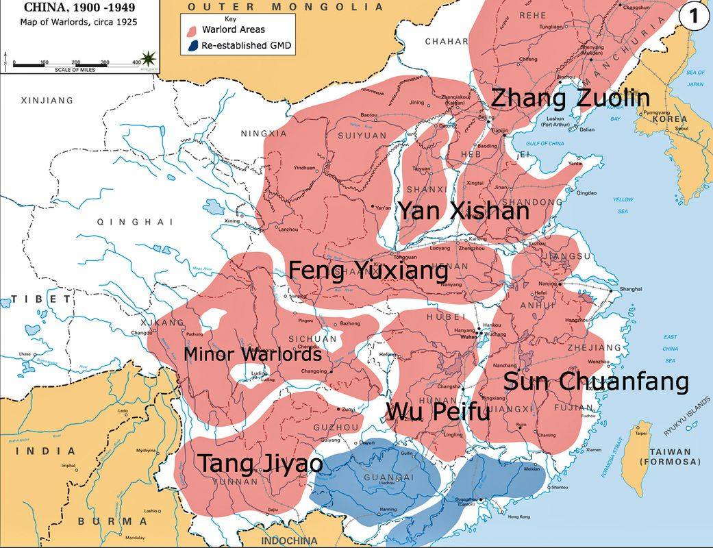 Map of the warlords 1925 modern chinese history 1911 1949 the warlord era was a decade long period when national authority in china disintegrated and the country was ruled by powerful military leaders and cliques gumiabroncs Image collections