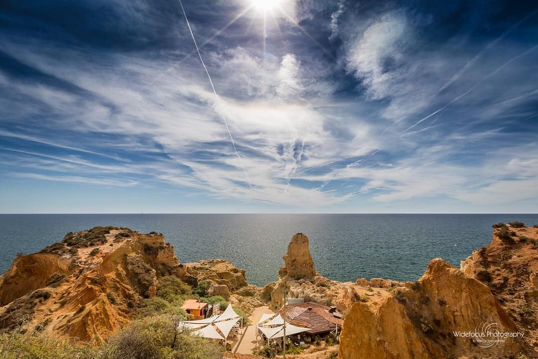Into The Blue #portugal #algarve #carvoeiro #landscape #seascape #blue #sky #cliffs #sea #ocean