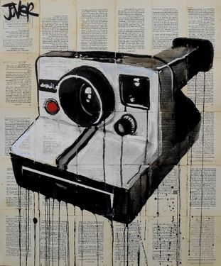"Saatchi Online Artist Loui Jover; Drawing, ""the polaroid"" #art"