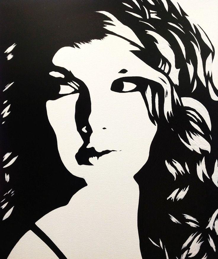 30 Black And White Pop Art Paintings Pop Art Canvas Pop Art Canvas Paint White Canvas Art