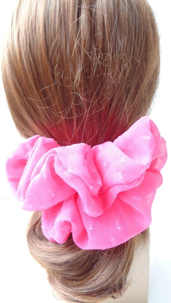 scrunchies scrunchy scrunchie pink  chiffon hair scrunchie hair scrunchie  ,Chouchou, hair accessori #hairscrunchie