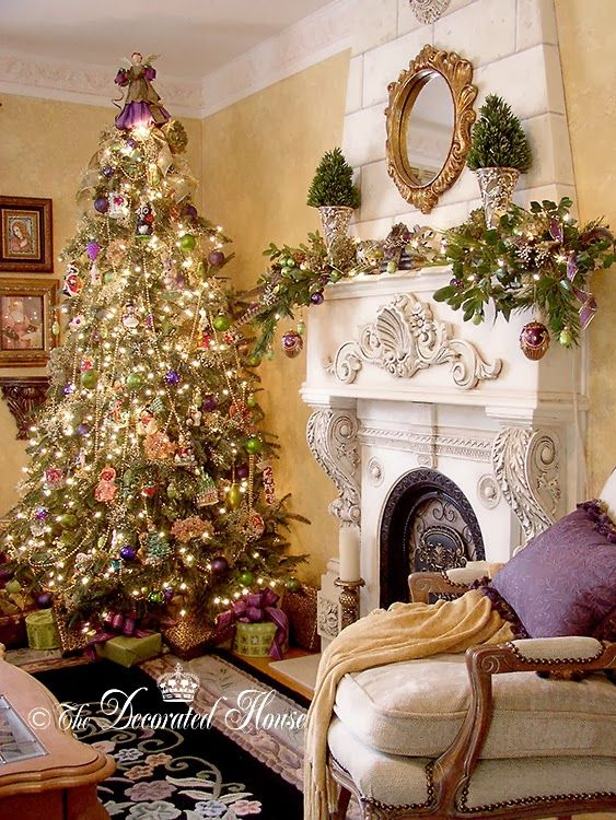 Christmas.       The Decorated House