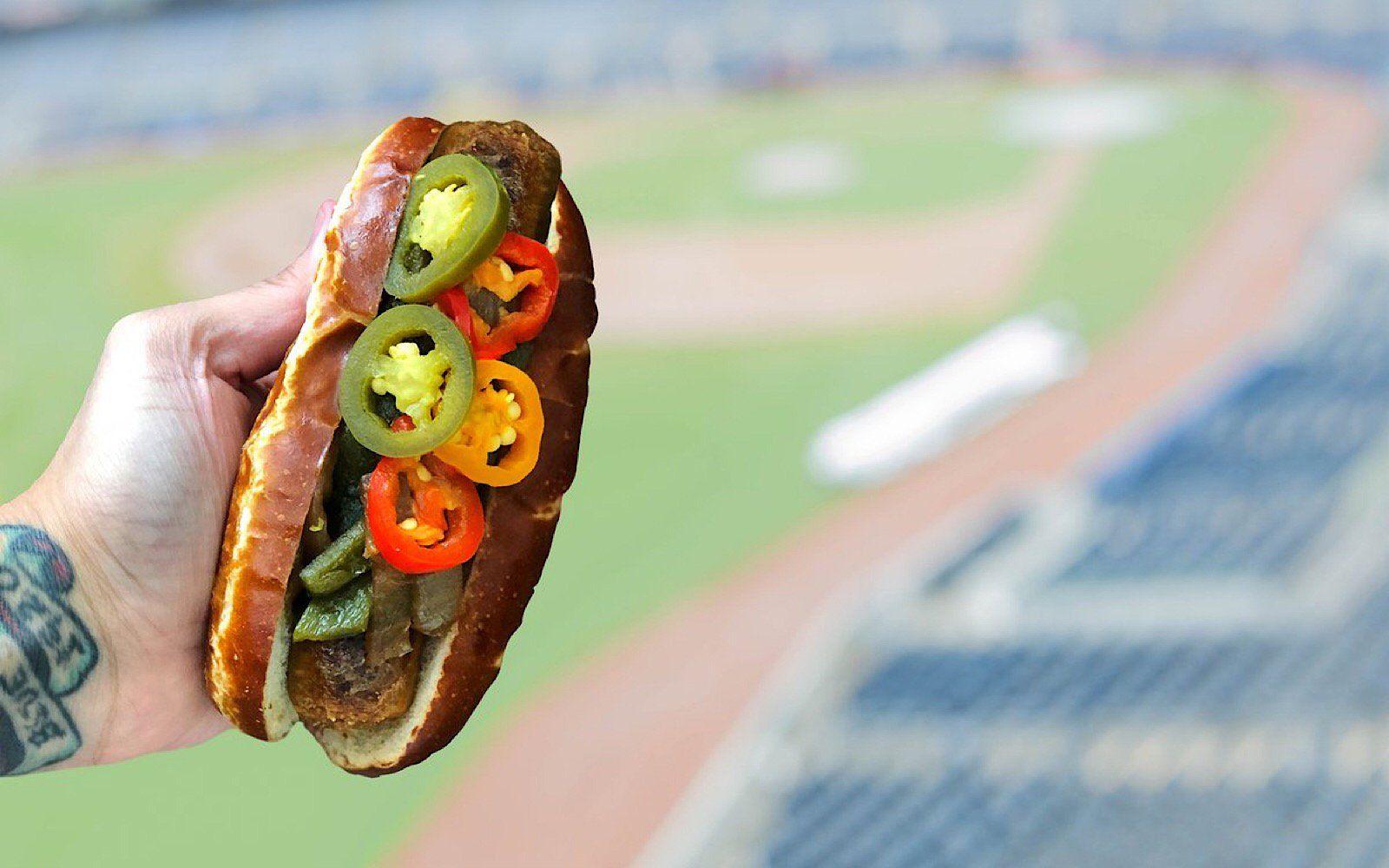 The Plant Based Beyond Sausage Now Served In Yankee Stadium Vegan News Vegan Vegan Options
