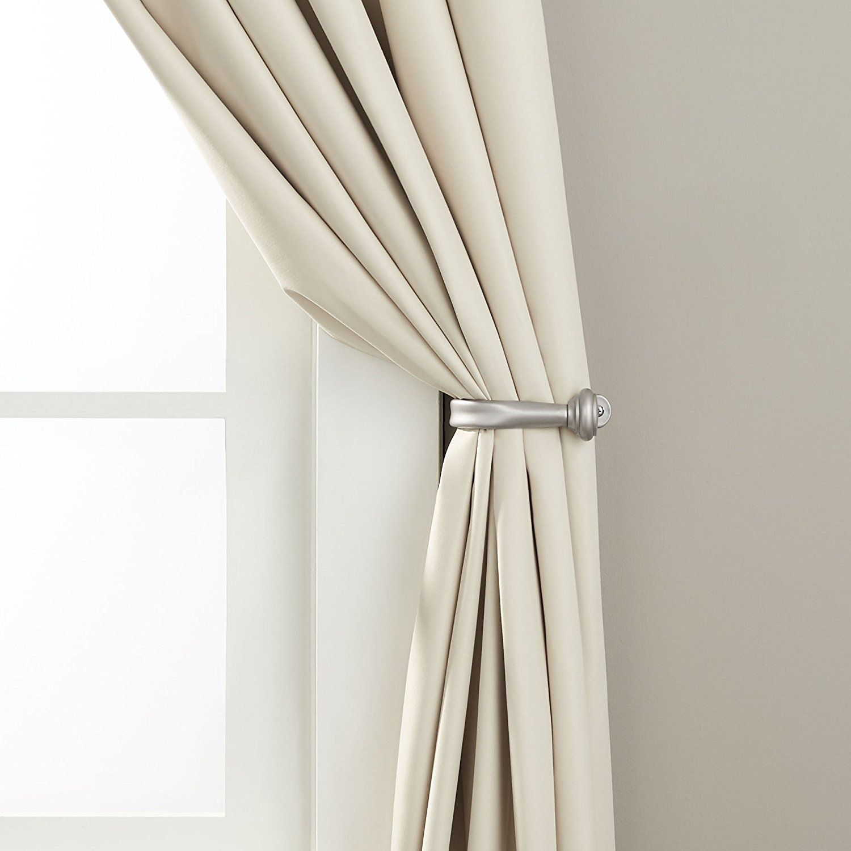 Amazonbasics Decorative Curtain Drapery Holdback Set Of 2 Silver