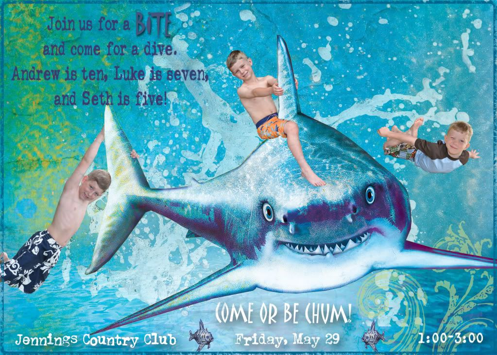 Sharkinvitations double take sharks and a new blog design this photo about awesome shark birthday invitations entitled as shark invitations birthday party also describes and labeled as shark birthday filmwisefo Images