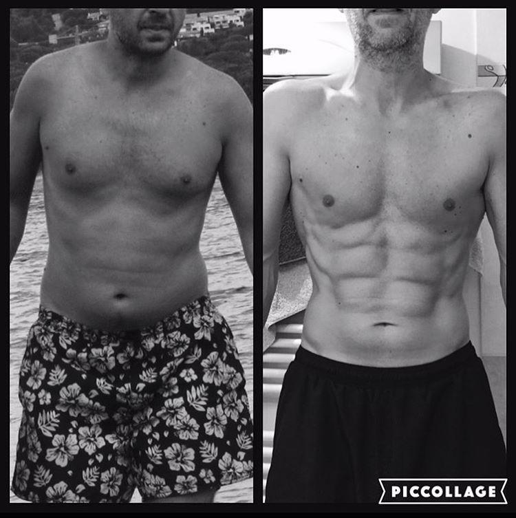 Avant-après en 6 mois de pratique, @zullave a 42 ans ...