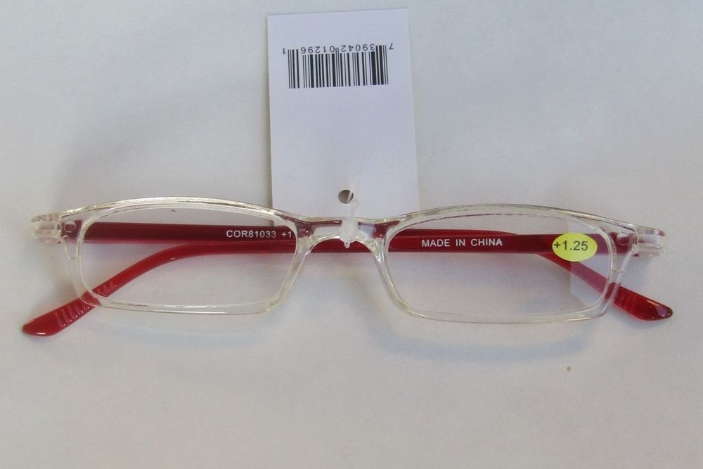 Women Plastic Narrow Frame Reading Eye Glasses Ladies Clear Readers ...