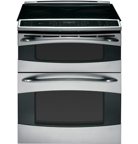 GE  Double Oven Slide In Electric Range W/ Convection   Stainless Steel
