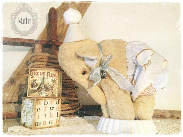 Bastelanleitung - PDF SCHNITT EBOOK Elefant MUFFiN Sofort Download - ein Designerstück von Teddy-Manufaktur bei DaWanda