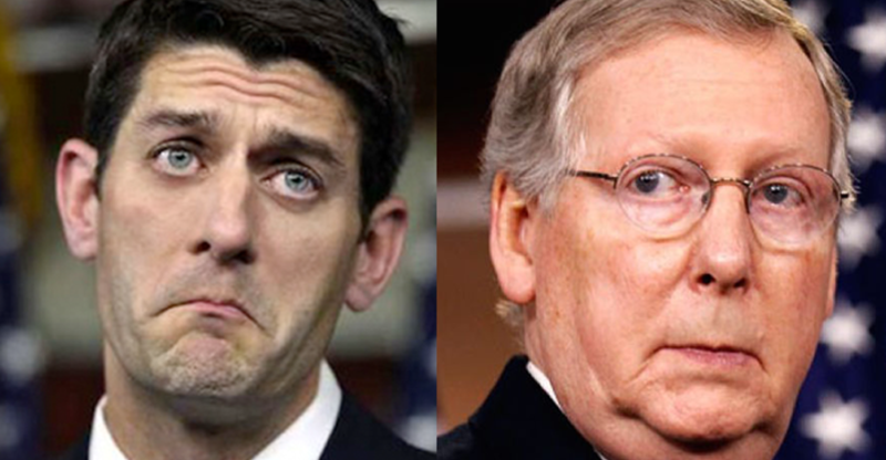 Image result for paul ryan mitch mcconnell