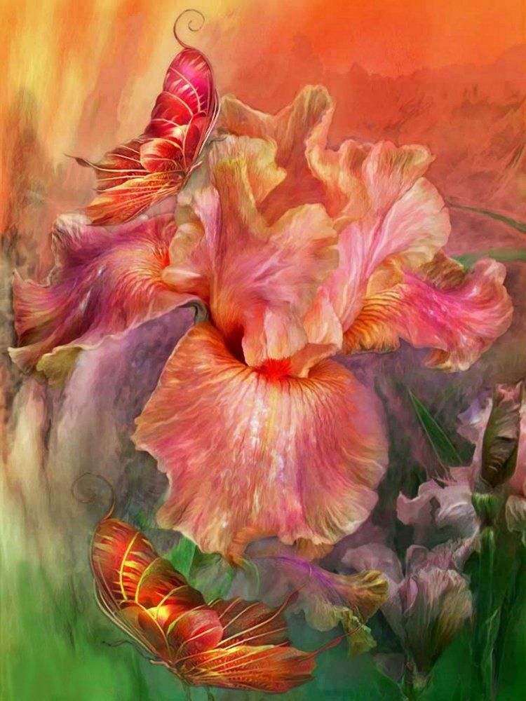 Сказочный цветок открытка, февраля