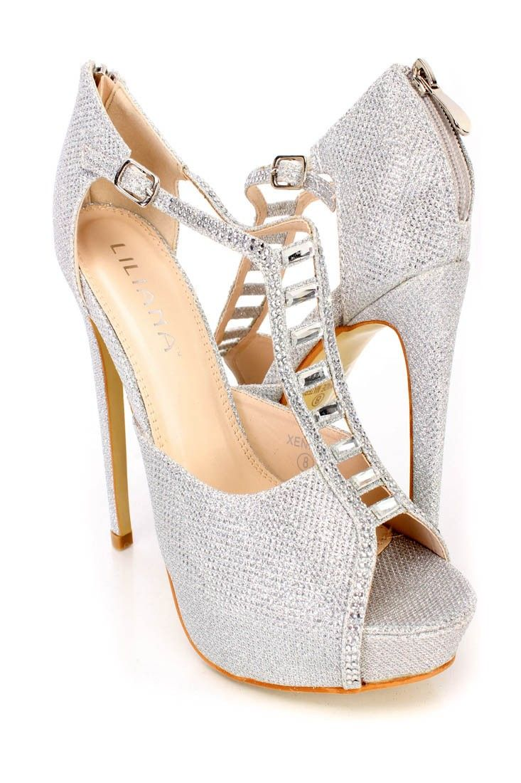 3e1166851 Be ready to hit the town in these sexy heels featuring a glitter finish