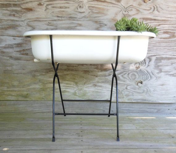 enamel tub / European washtub with stand by forthecommongood, $329.00