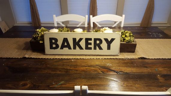Bakery Sign, Kitchen Decor, Farmhouse Decor, Wood Sign, Hand Painted Sign, Primitive Decor, Distressed Sign, Rustic Sign