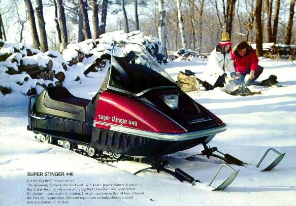74 Scorpion Super Stinger 440 Remembering Vintage Snowmobiles
