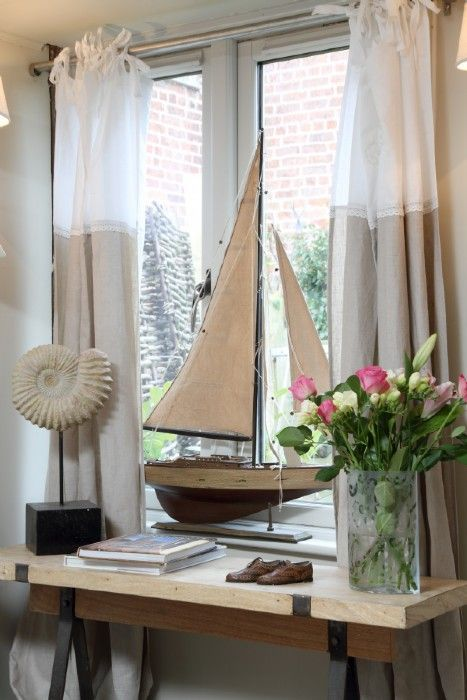 Cottage Tour...Modern Country Hideaway! | Modern Country Style | Bloglovin'/like the curtains