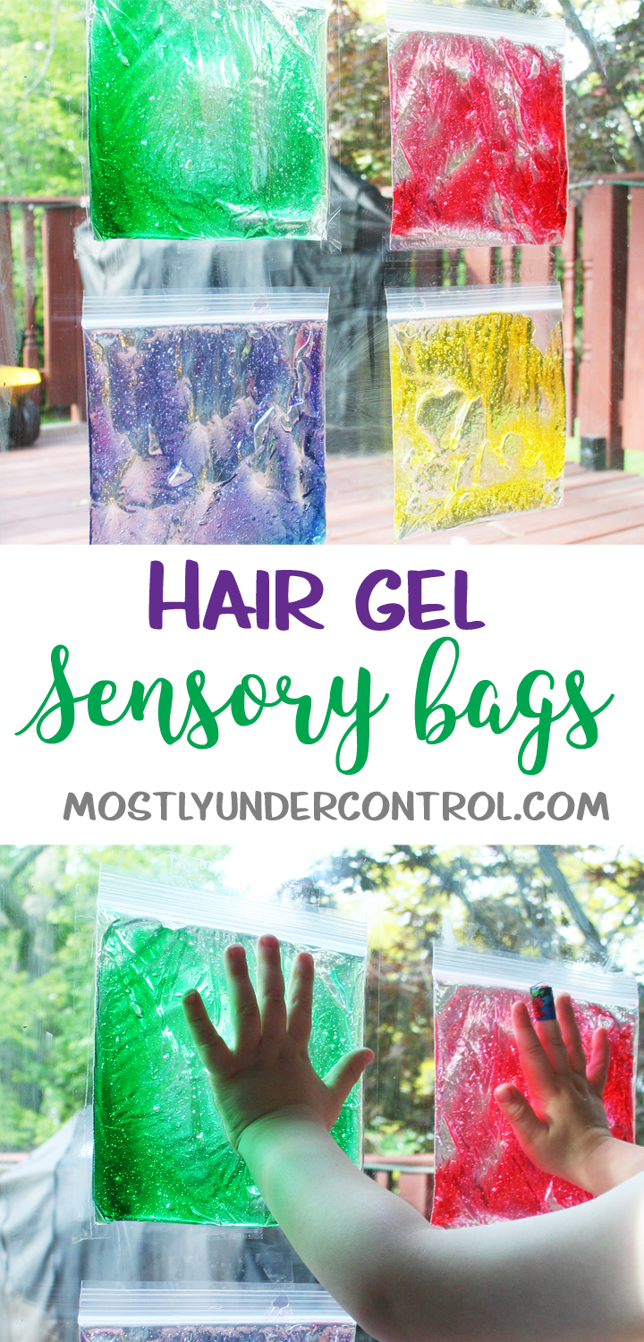 Play with Hair Gel Sensory Play with Hair Gel - Mostly Under ControlSensory Play with Hair Gel - Mostly Under Control