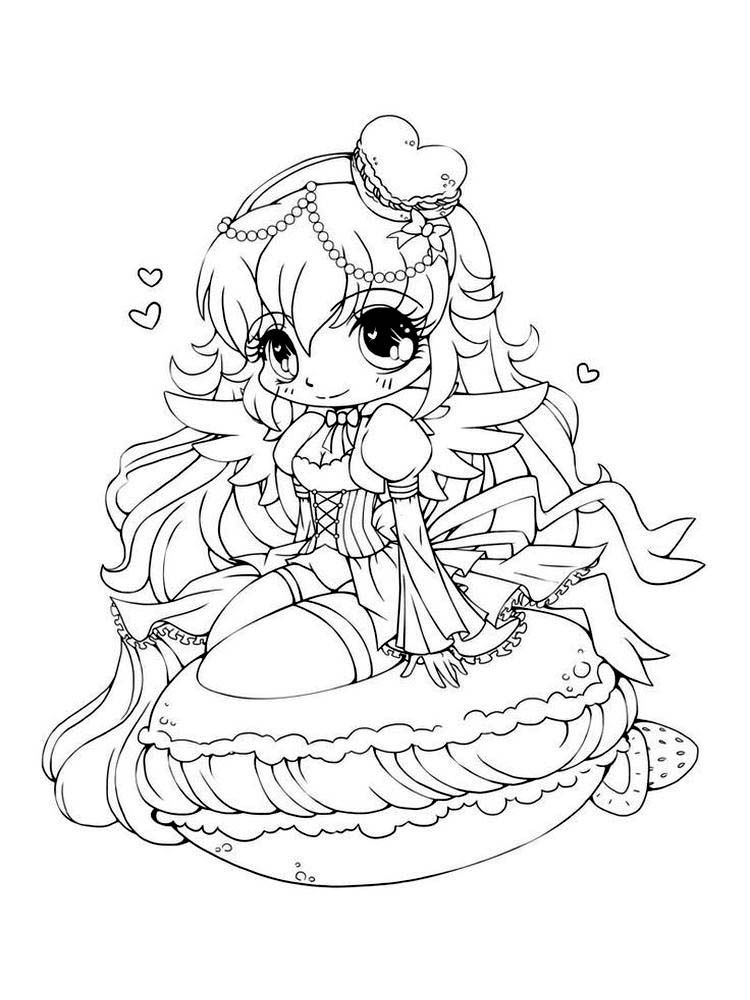 Chibi anime coloring pages printable cute coloring pages