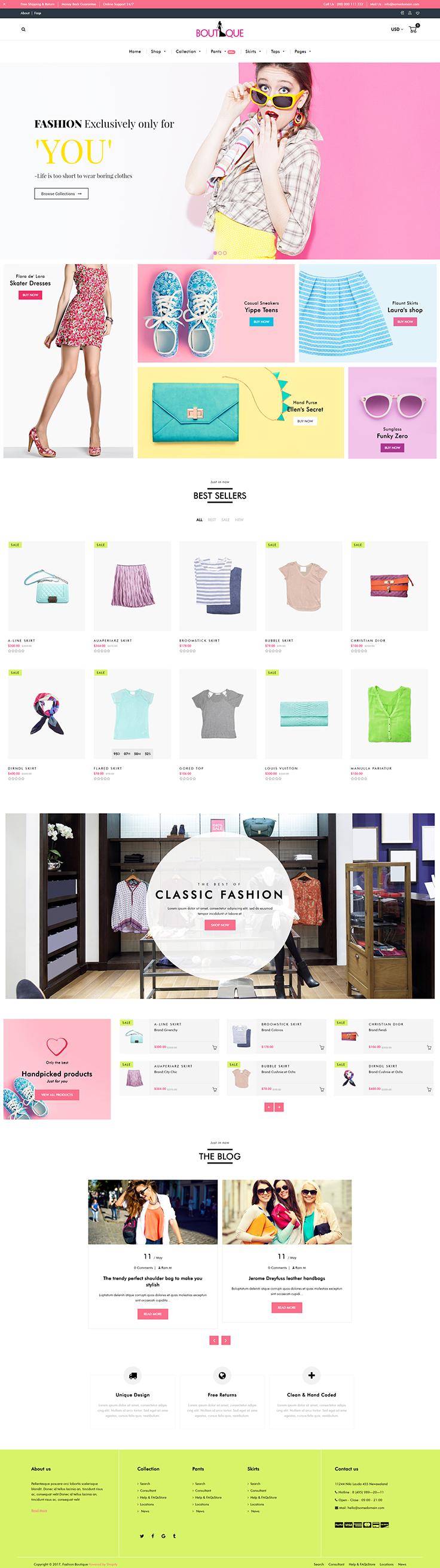 Boutique Shopify Fashion Shopify Website Design Ecommerce Web Design Shopify Design