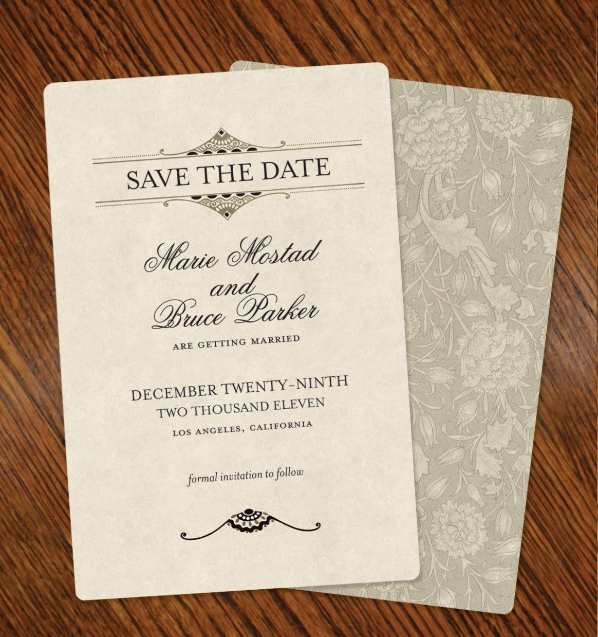 Wedding Card Text Save The Date