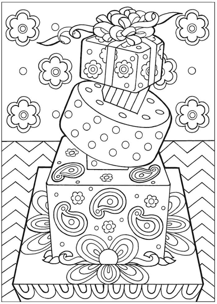 Dover Creative Haven Designer Desserts 1 Coloring Pages